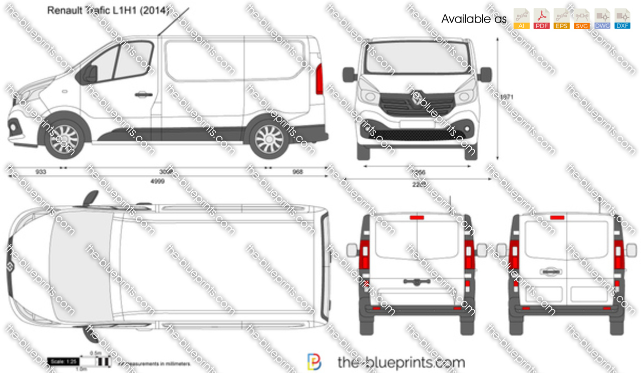 renault trafic l1h1 vector drawing. Black Bedroom Furniture Sets. Home Design Ideas