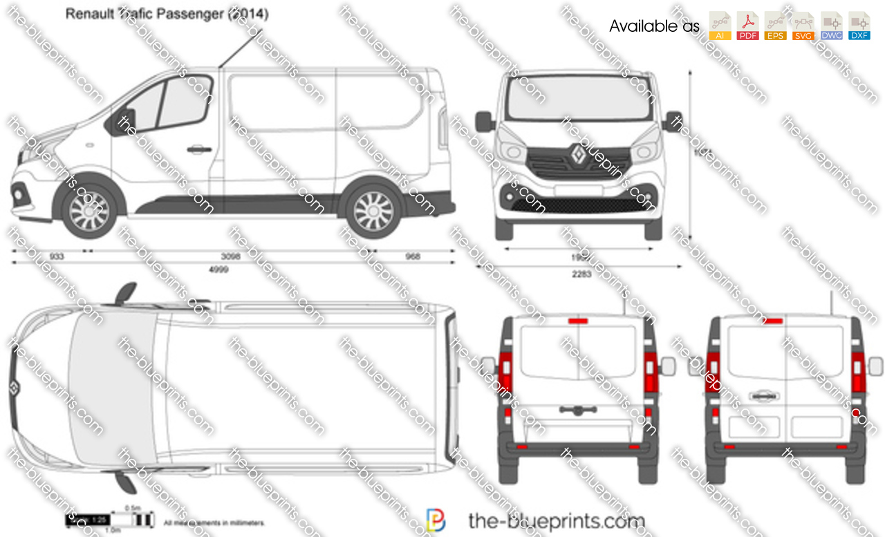 renault trafic passenger vector drawing. Black Bedroom Furniture Sets. Home Design Ideas
