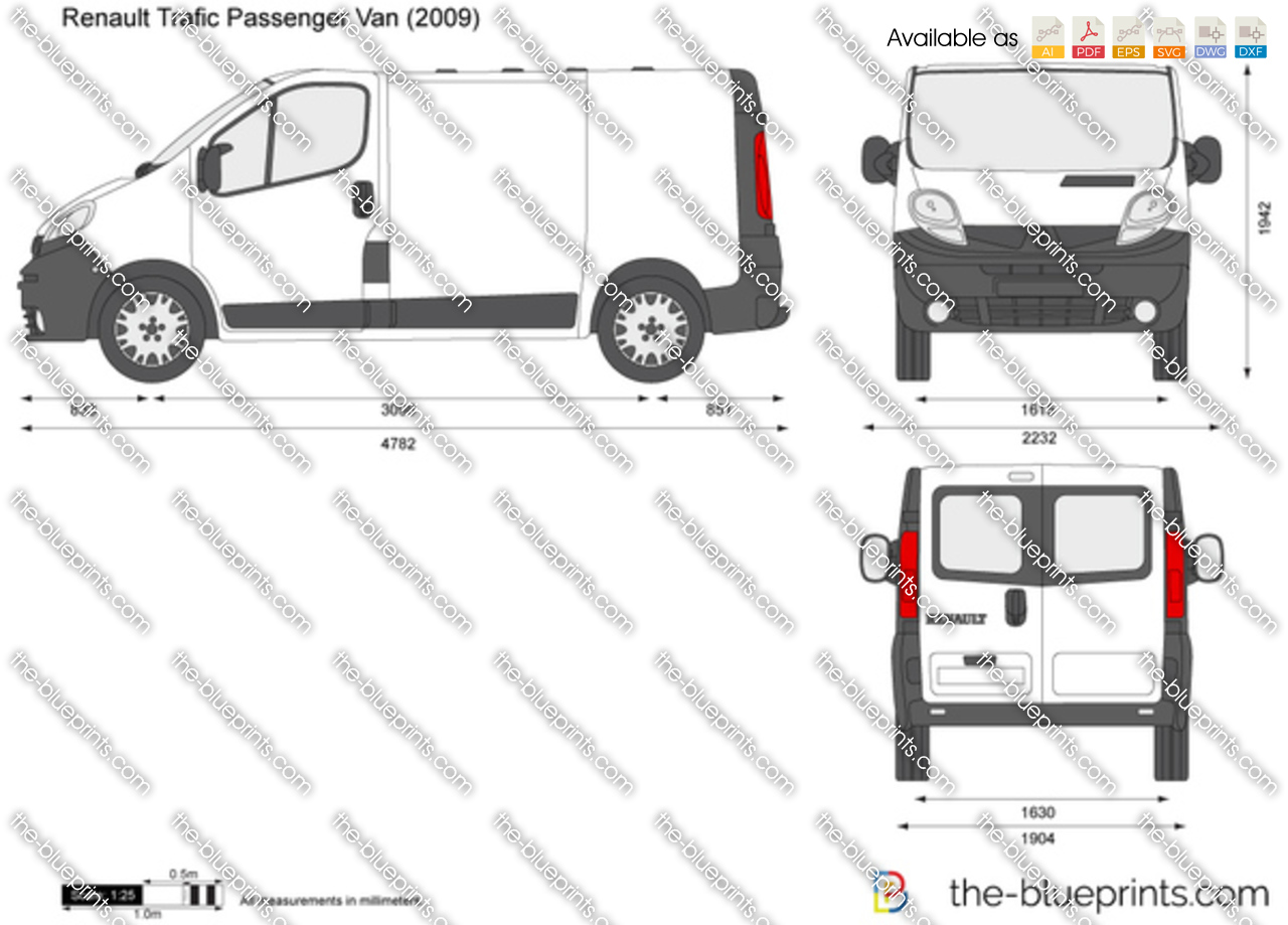 renault trafic passenger van vector drawing. Black Bedroom Furniture Sets. Home Design Ideas