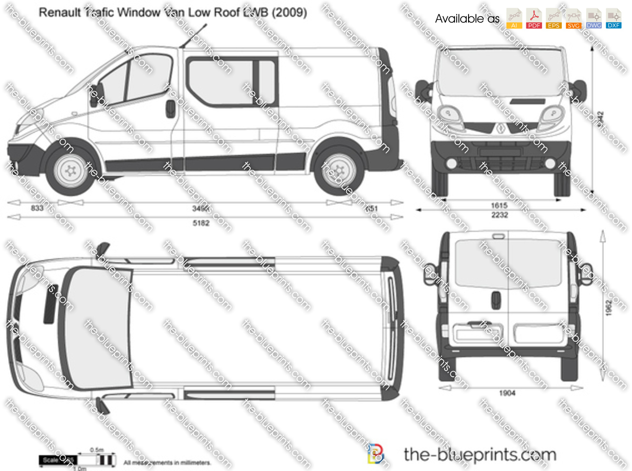 Renault Trafic Window Van Low Roof LWB 2003