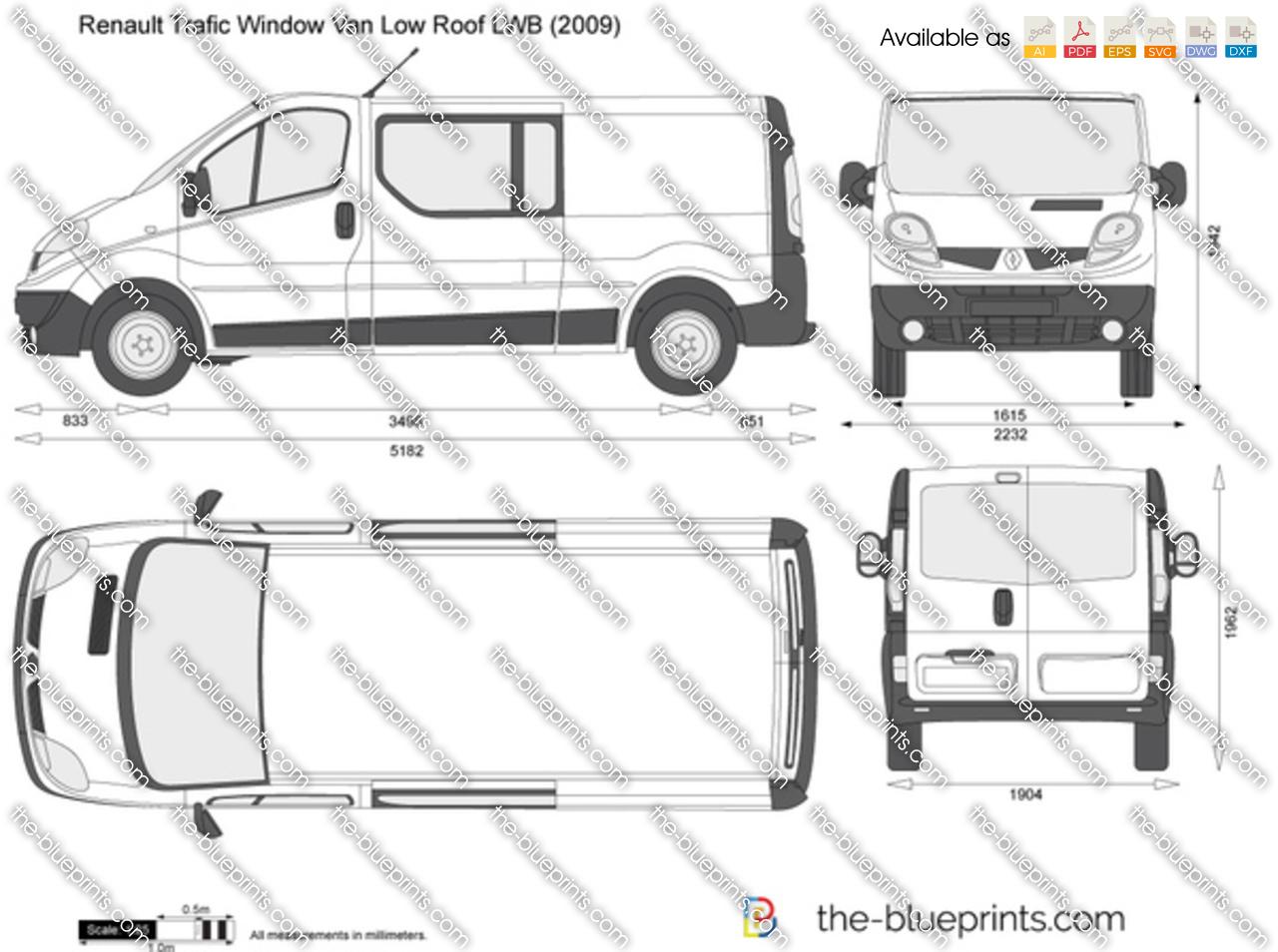 Renault Trafic Window Van Low Roof LWB 2012