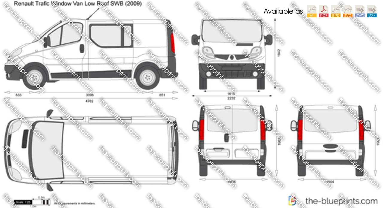 Renault Trafic Window Van Low Roof SWB Tailgate