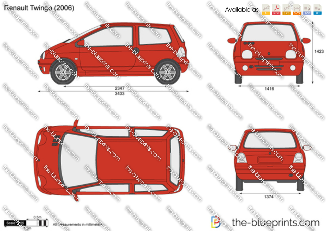 the vector drawing renault twingo. Black Bedroom Furniture Sets. Home Design Ideas