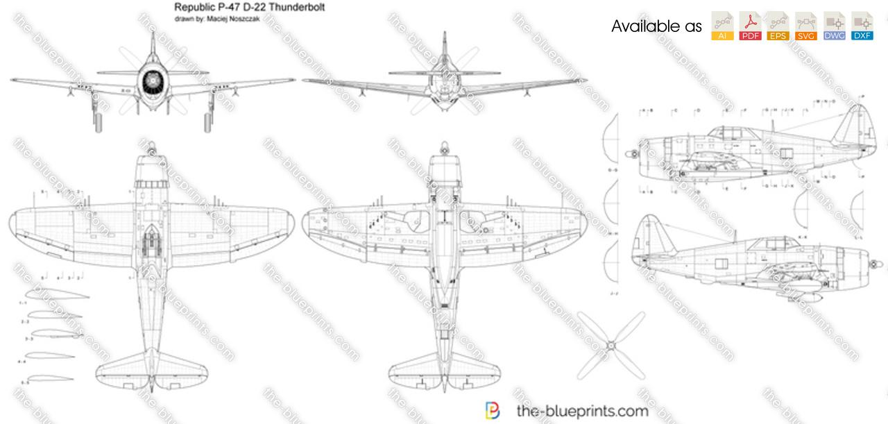 Republic P-47 D-22 Thunderbolt