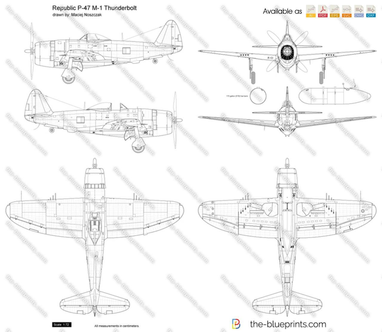 Republic P-47 M-1 Thunderbolt
