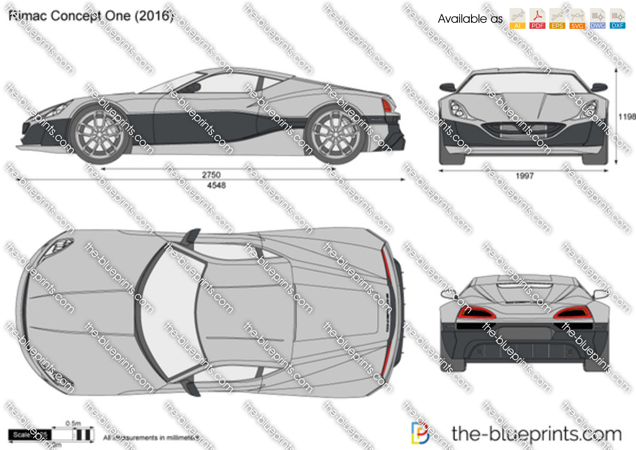 Rimac Concept One Vector Drawing