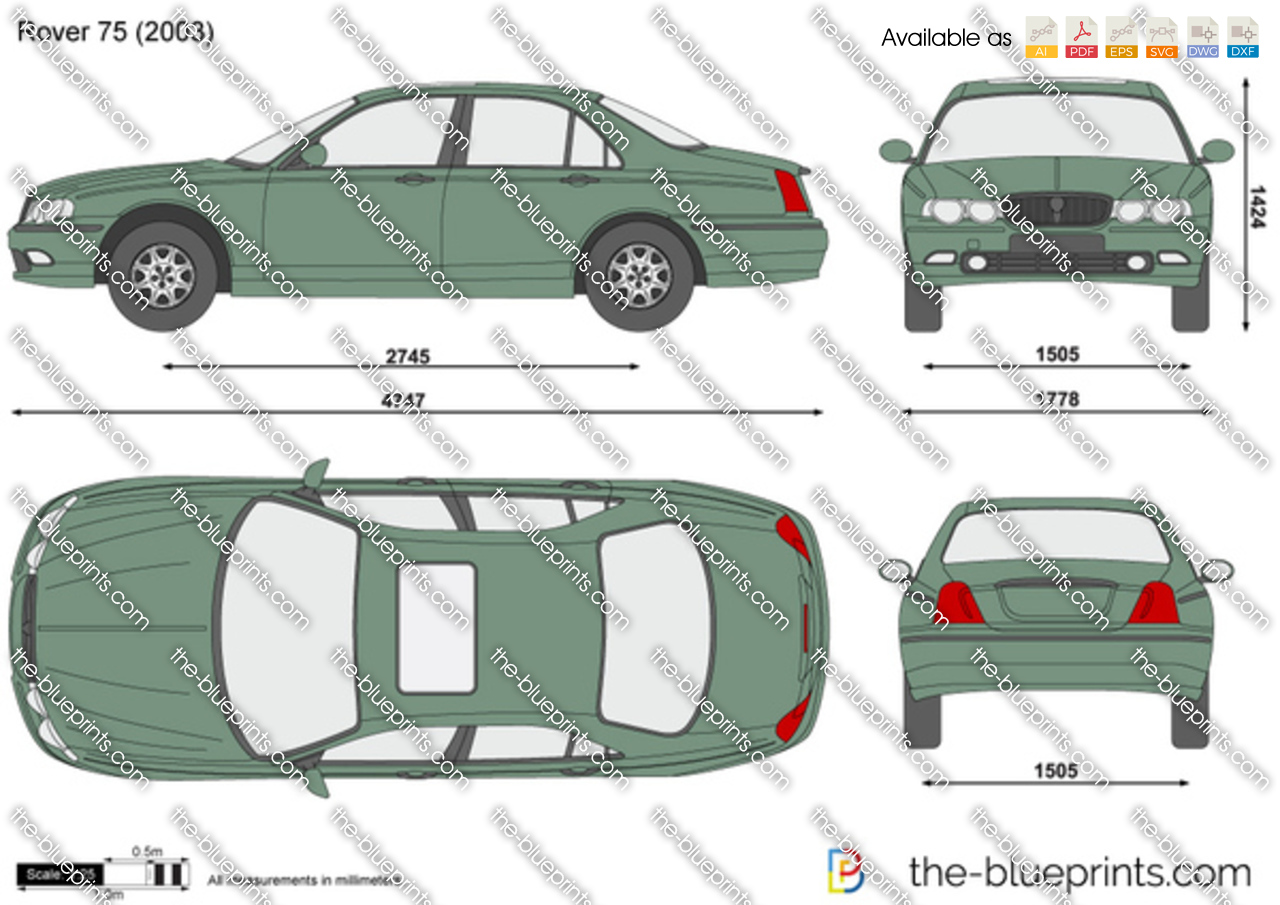 Ford Transit Wagon >> The-Blueprints.com - Vector Drawing - Rover 75