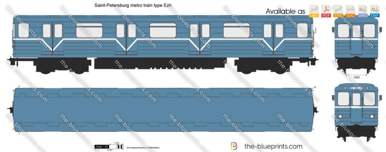 Saint-Petersburg metro train type Ezh