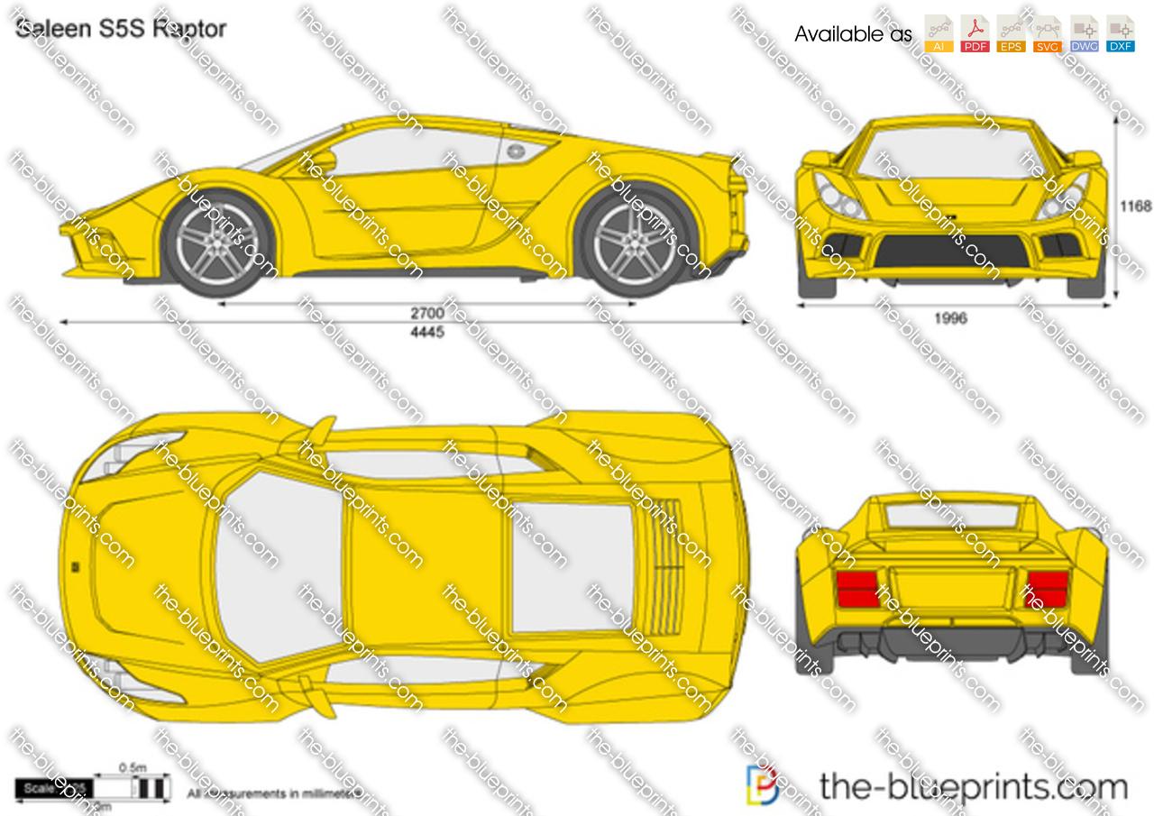 The Blueprints Com Vector Drawing Saleen S5s Raptor