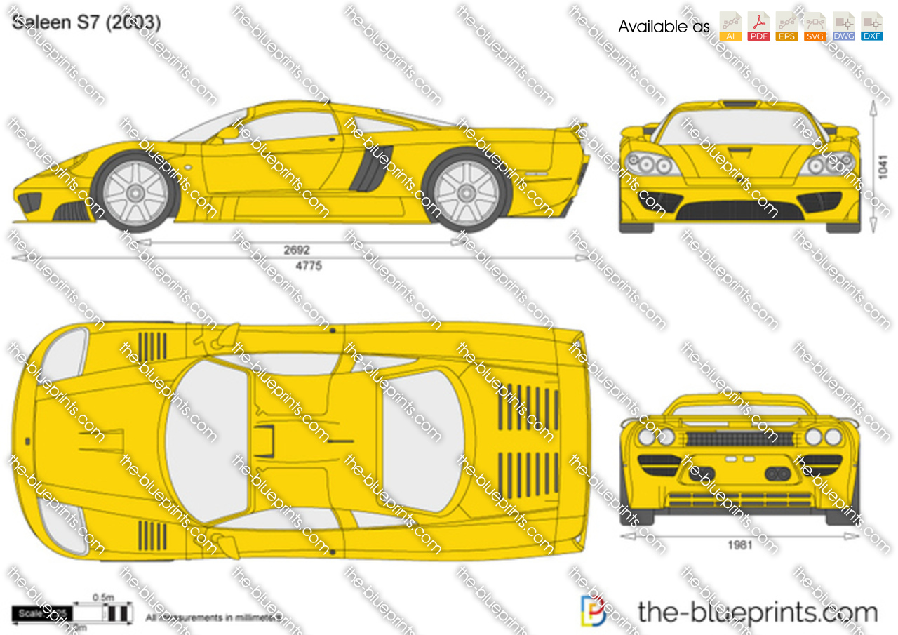 Saleen S7 For Sale >> Saleen S7 vector drawing