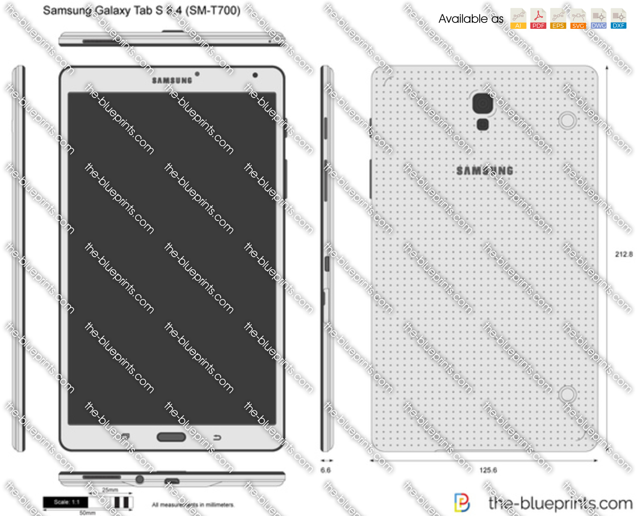 Samsung galaxy tab s 84 sm t700 vector drawing samsung galaxy tab s 84 sm t700 malvernweather Image collections