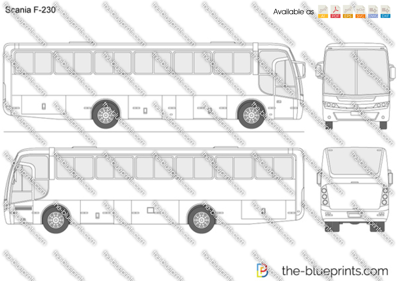 Scania f 230 vector drawing for How to print blueprints