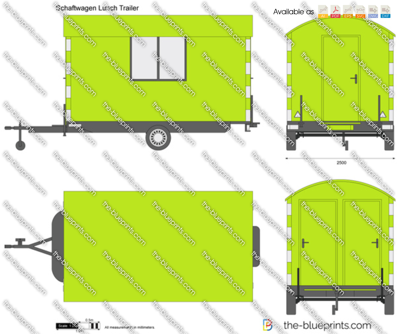 Schaftwagen Lunch Trailer