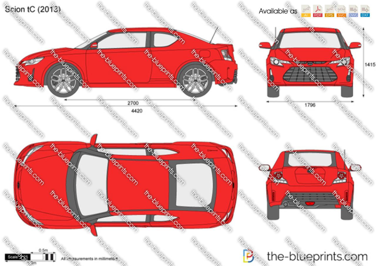 Scion Tc Headlights >> Scion tC vector drawing