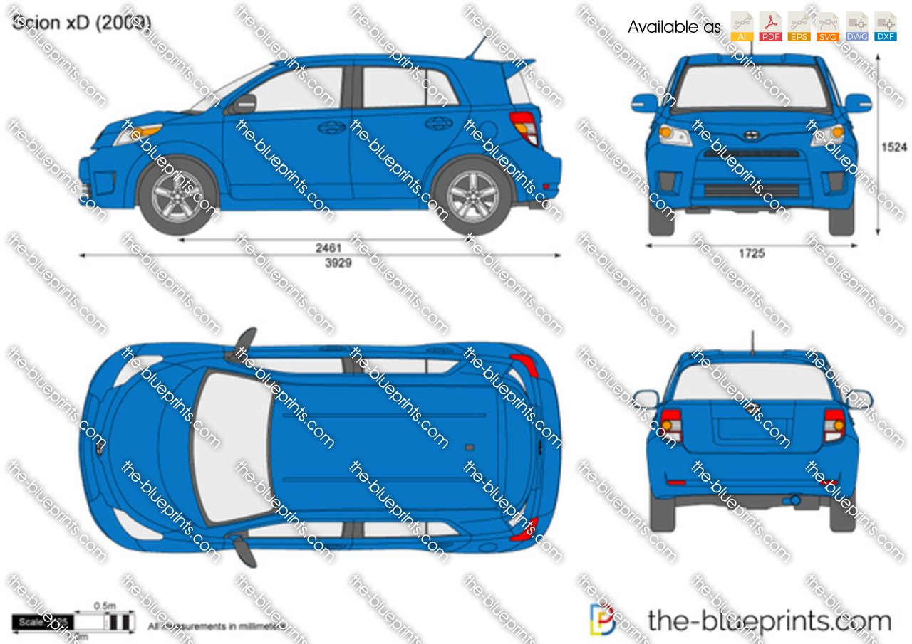 scion xd vector drawing