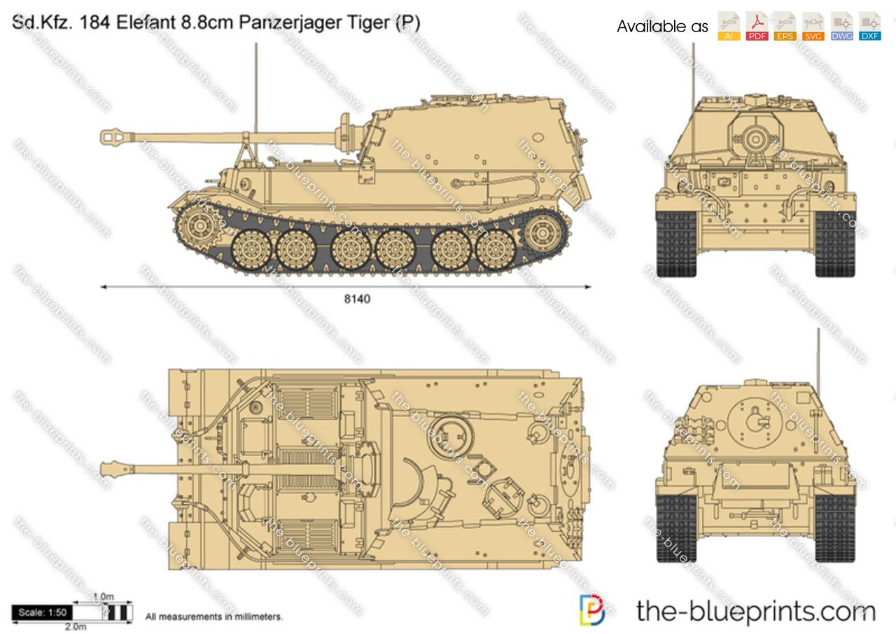 Sd.Kfz. 184 Elefant 8.8cm Panzerjager Tiger (P)