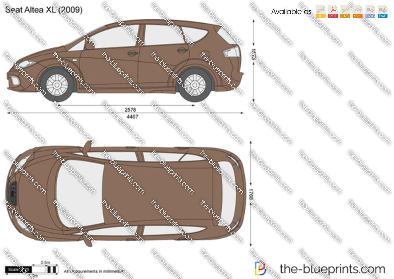 the vector drawing seat altea xl. Black Bedroom Furniture Sets. Home Design Ideas
