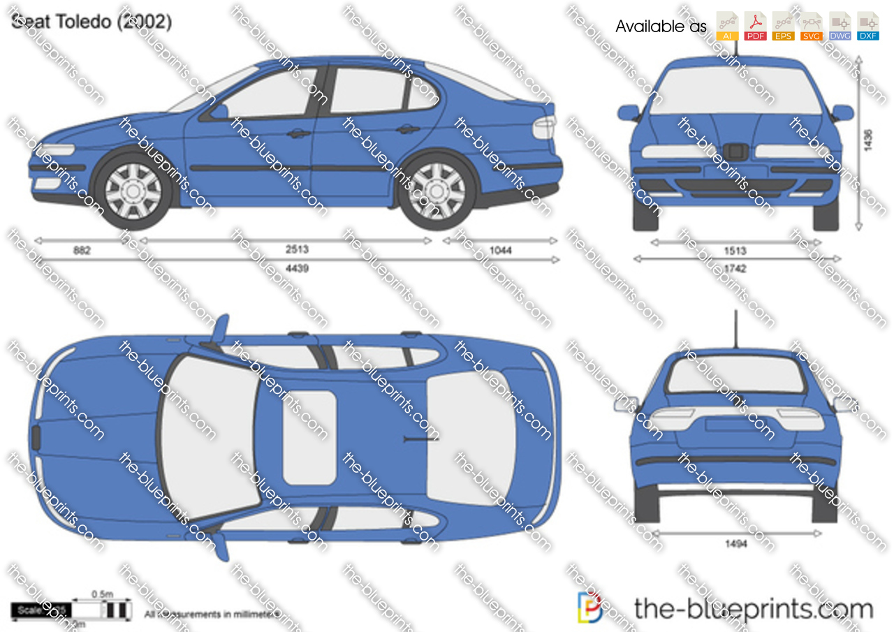 The Blueprints Com Vector Drawing Seat Toledo