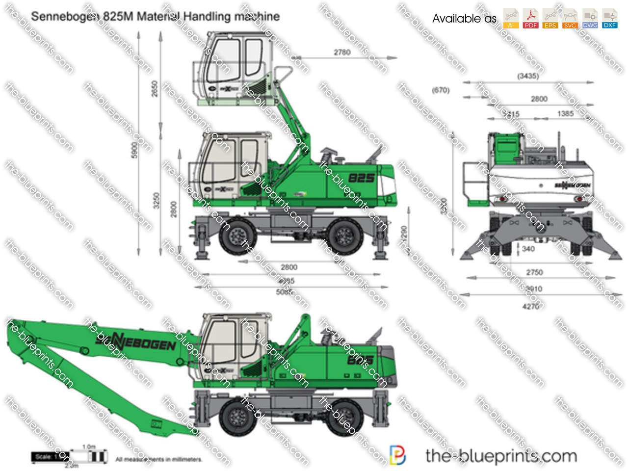 Sennebogen 825M Material Handling machine