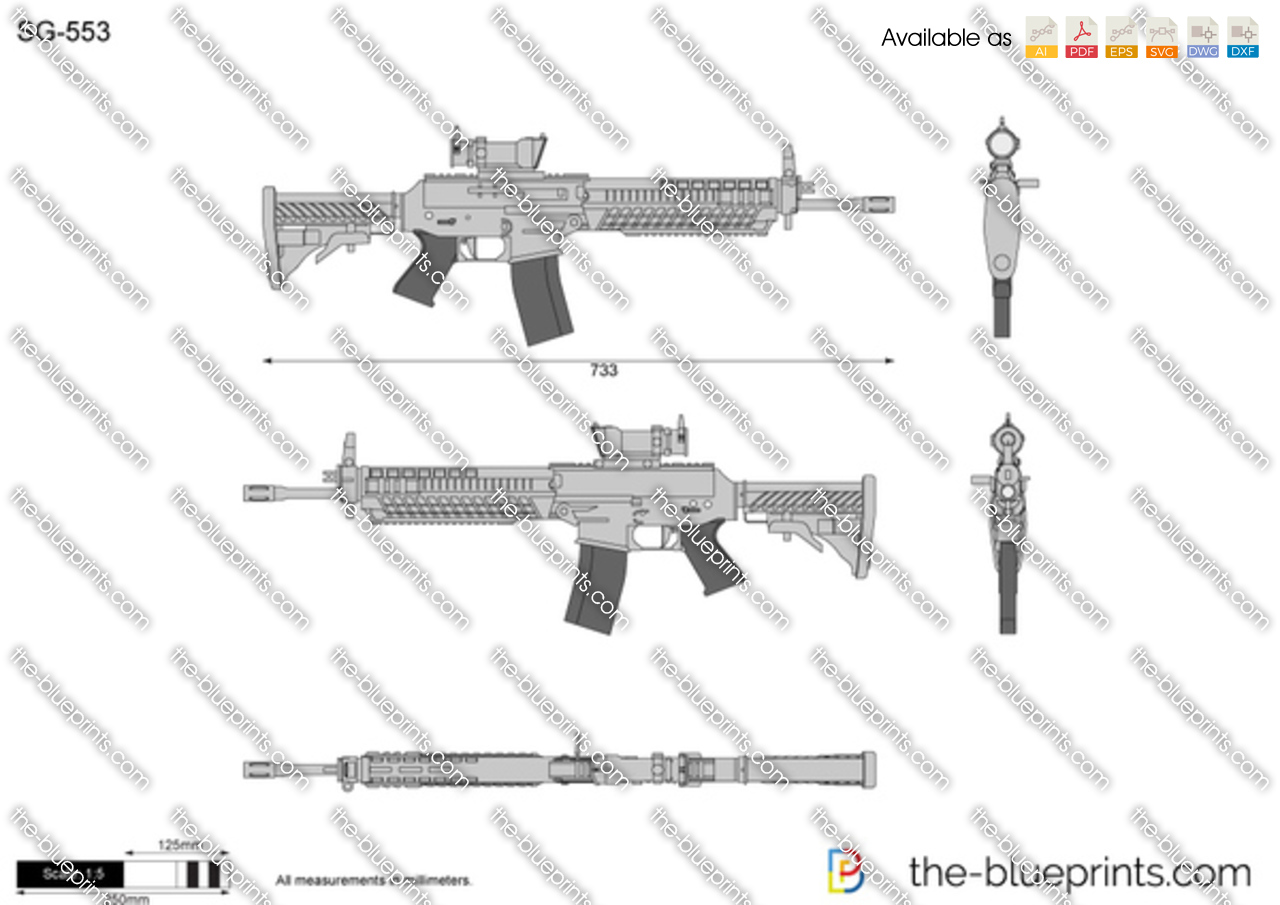 Sg 553 Vector Drawing