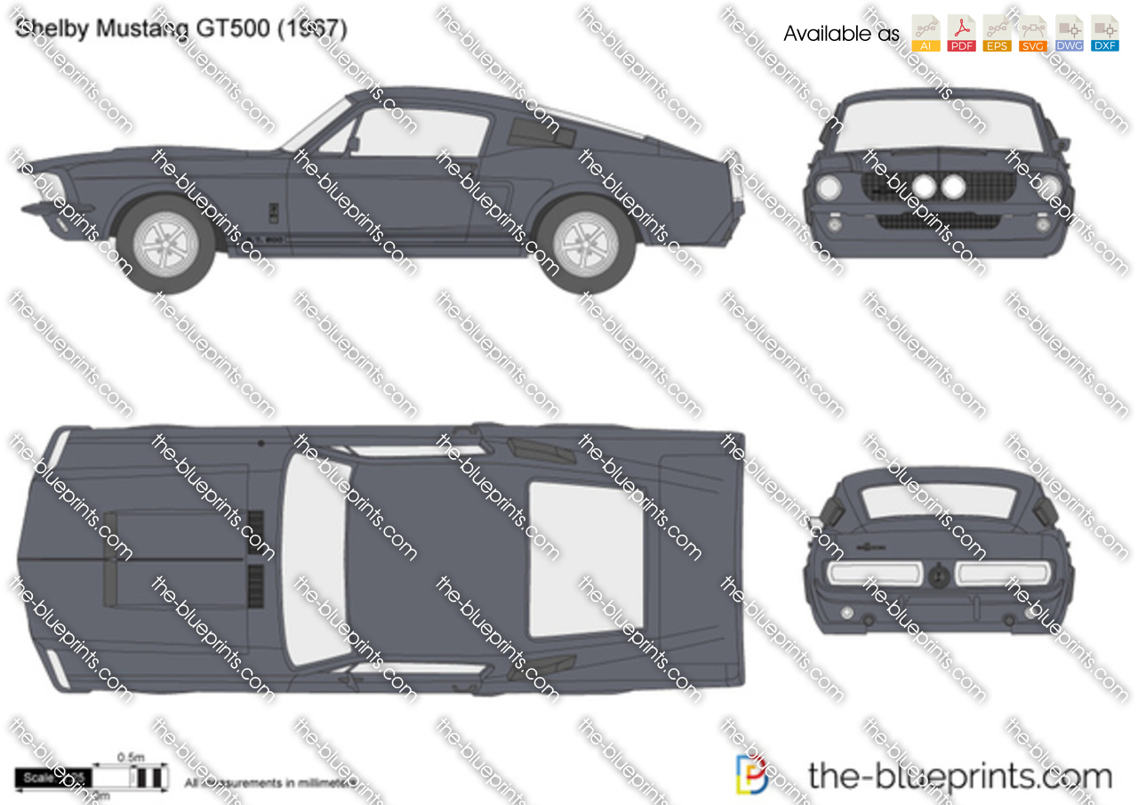 1967 Ford Mustang Drawings 1967 Ford Mustang Shelby Gt500