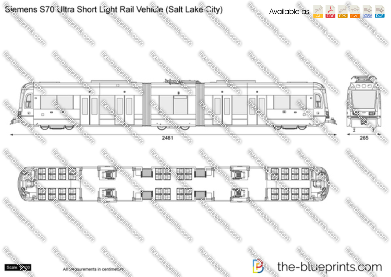 Siemens S70 Ultra Short Light Rail Vehicle (Salt Lake City)