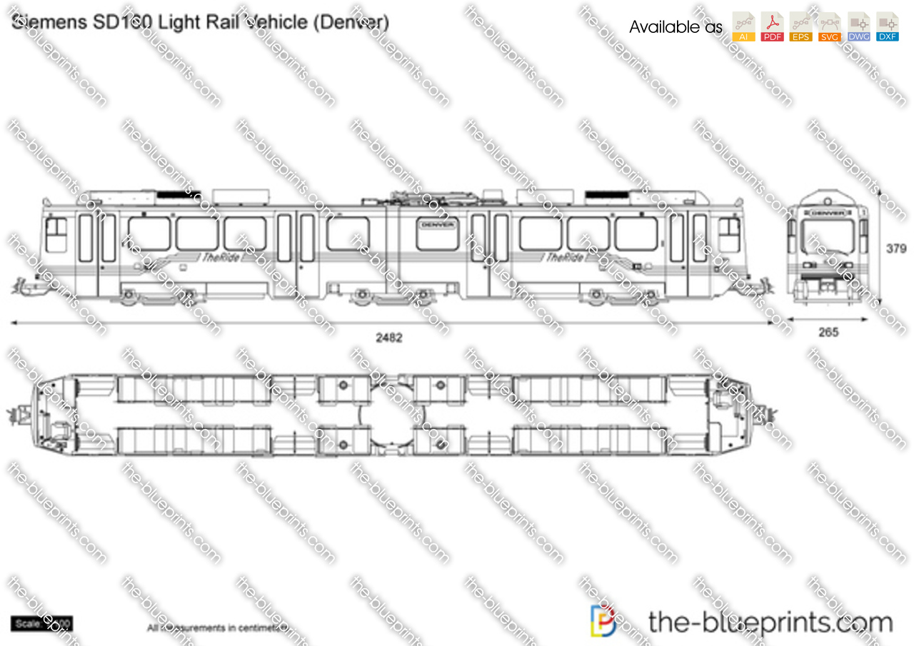 Siemens SD160 Light Rail Vehicle (Denver)