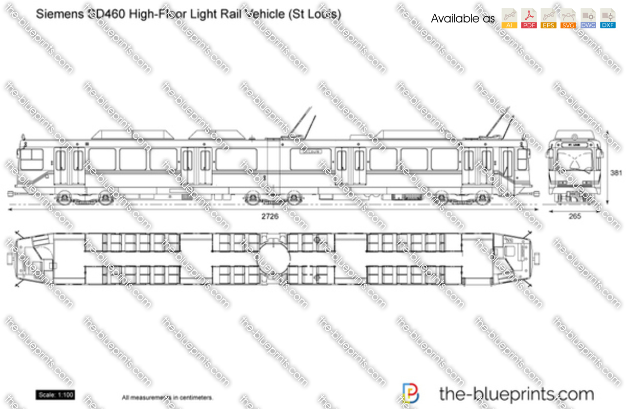 Siemens SD460 High-Floor Light Rail Vehicle (St Louis)