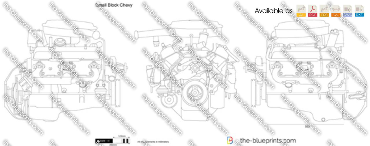 350 chevy engine block dimensions