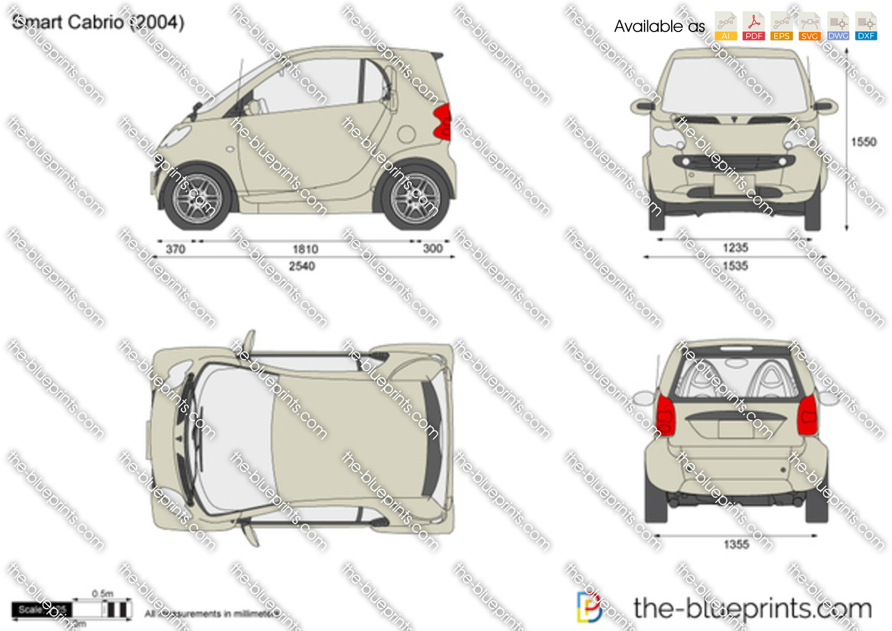 The Vector Drawing Smart Cabrio