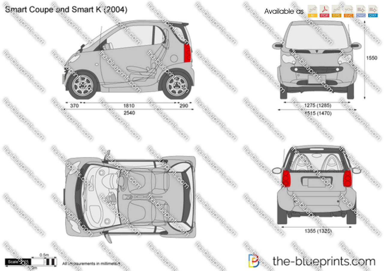 Smart Coupe and Smart K 2005