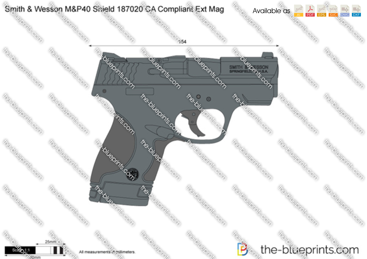 Smith & Wesson M&P40 Shield 187020 CA Compliant Ext Mag