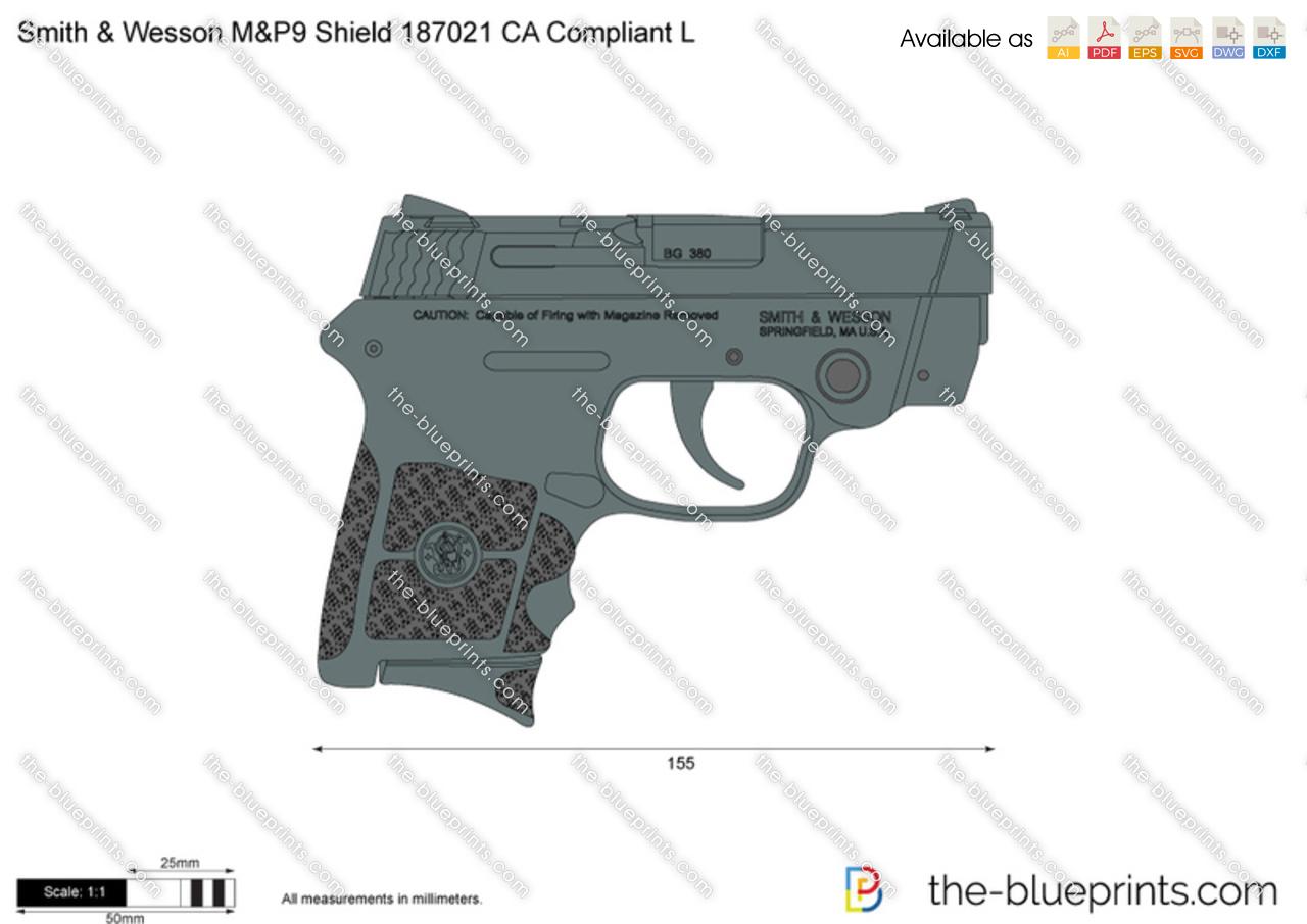 Smith & Wesson M&P9 Shield 187021 CA Compliant L