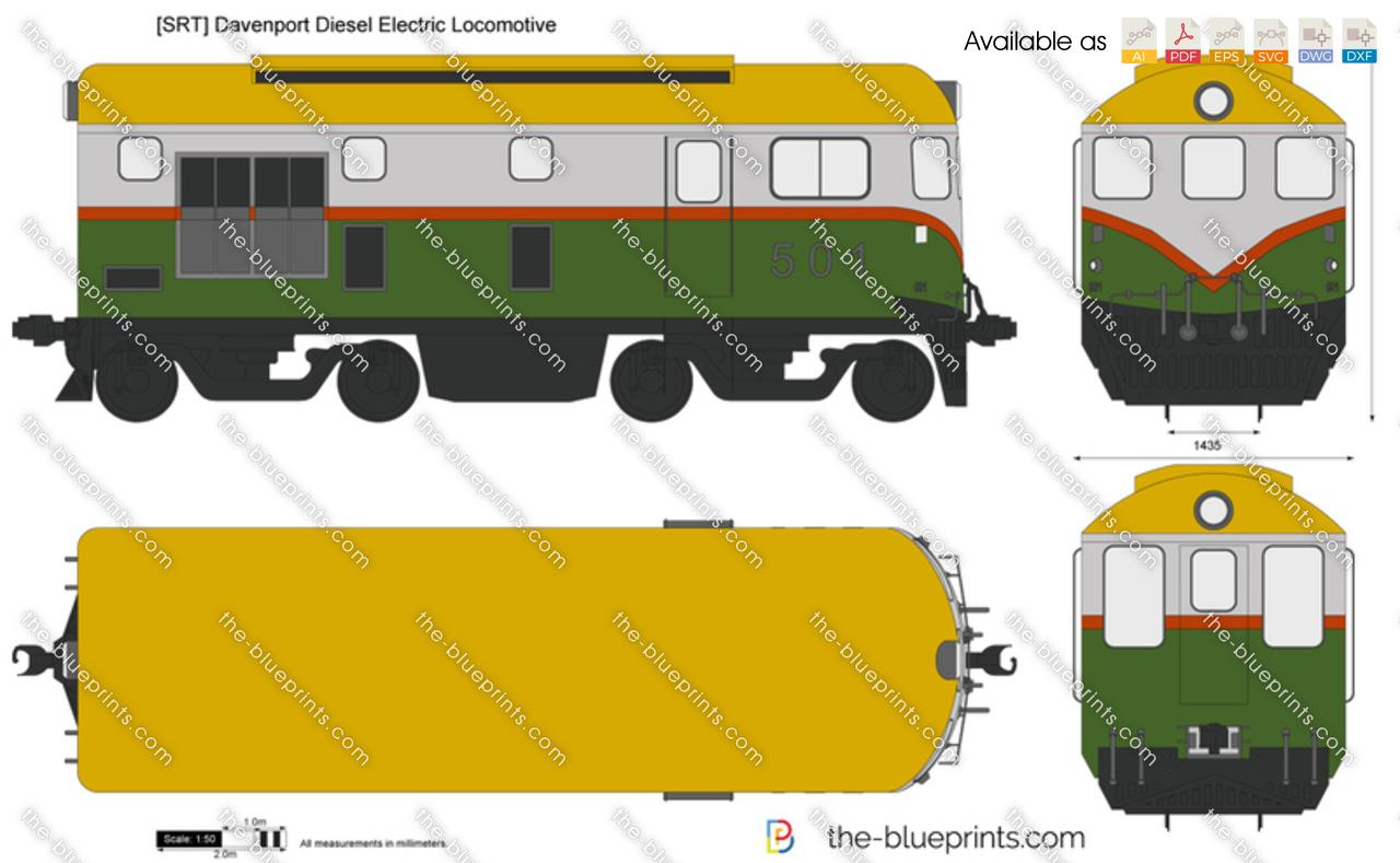 [SRT] Davenport Diesel Electric Locomotive
