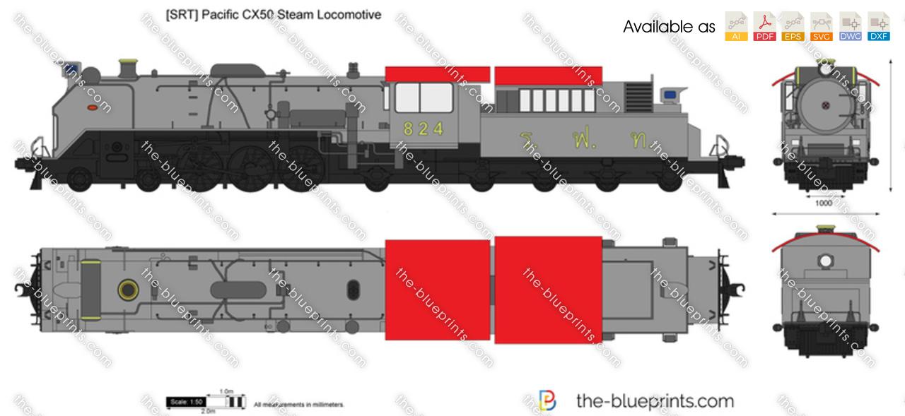 [SRT] Pacific CX50 Steam Locomotive