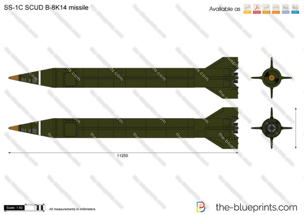 SS-1C SCUD B-8K14 missile