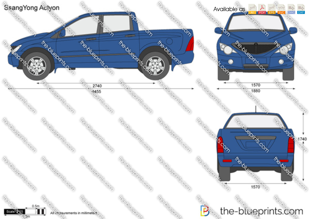 Ssangyong Actyon on Ford Ranger Blueprint