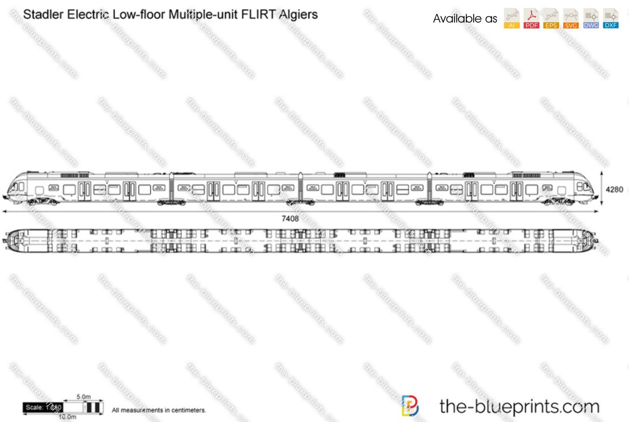 Stadler Electric Low-floor Multiple-unit FLIRT Algiers