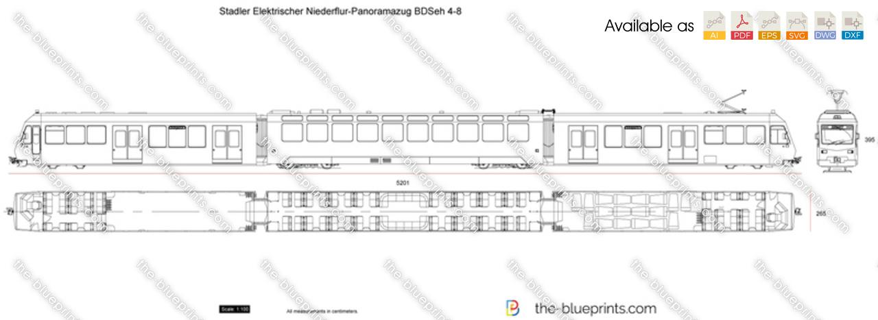 Stadler Elektrischer Niederflur-Panoramazug BDSeh 4-8