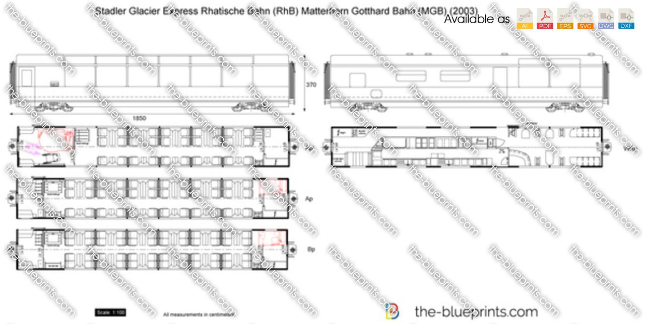 Stadler Glacier Express Rhatische Bahn (RhB) Matterhorn Gotthard Bahn (MGB)