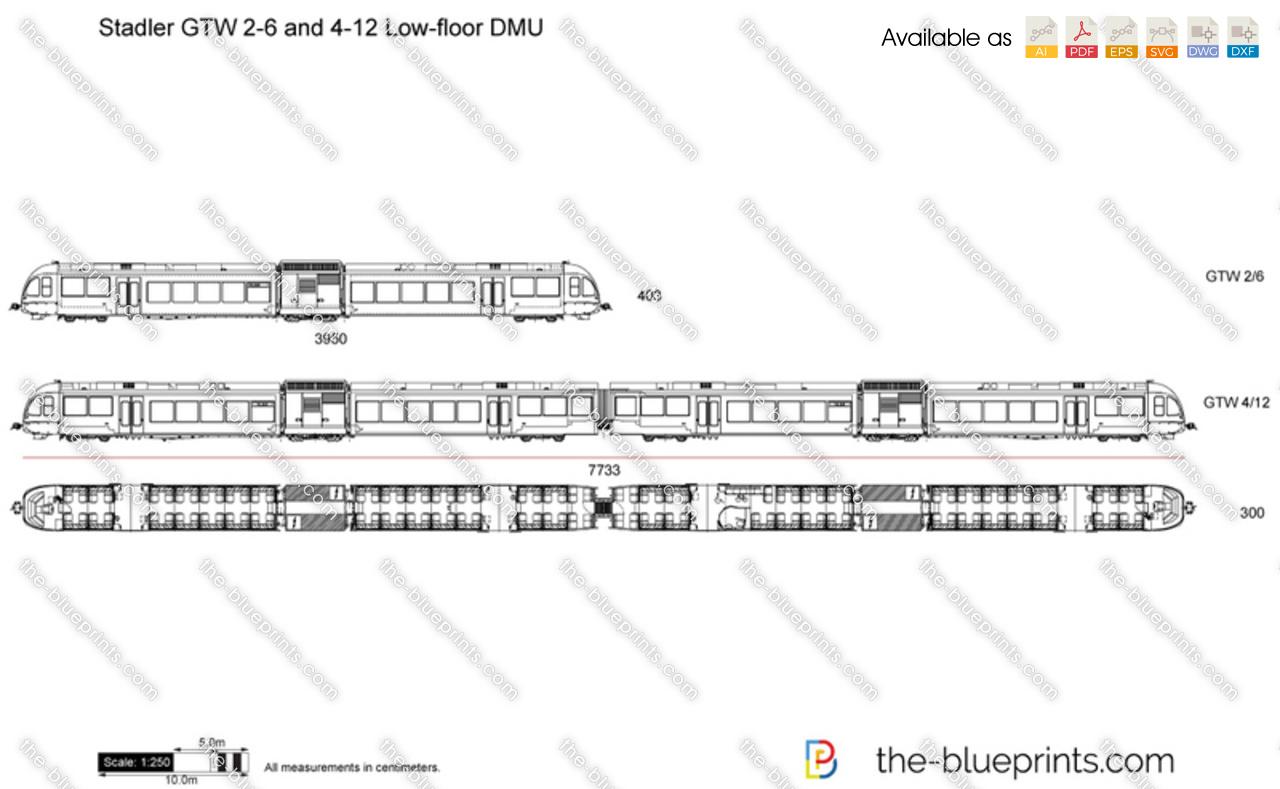 Stadler GTW 2-6 and 4-12 Low-floor DMU