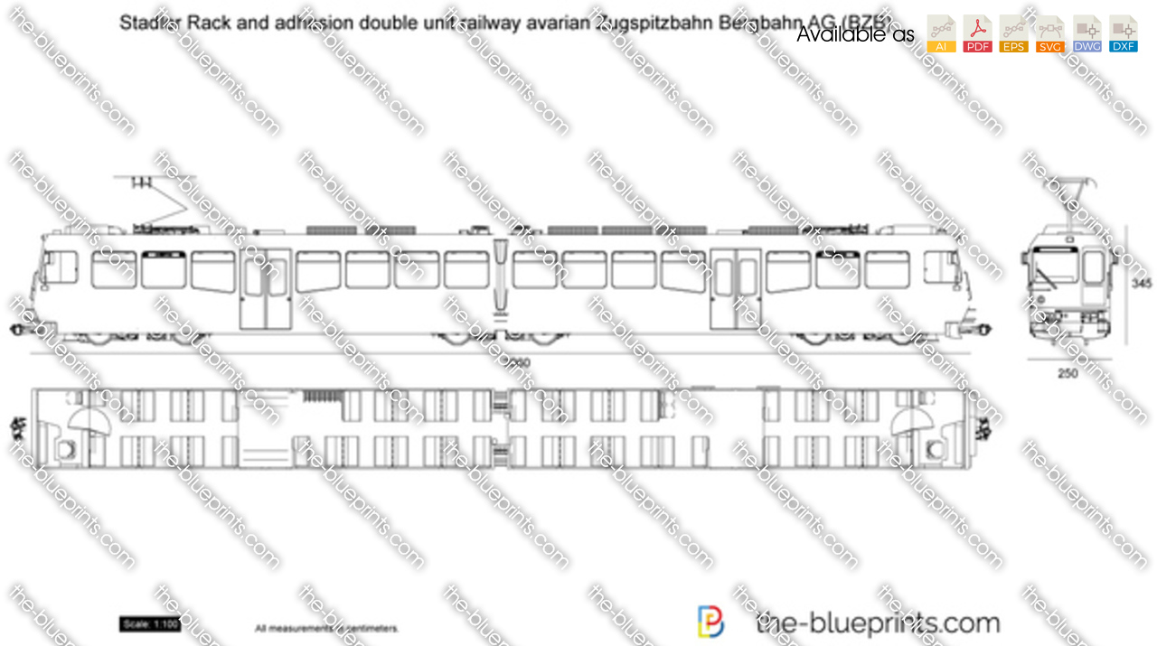 Stadler Rack and adhesion double unit railway Bavarian Zugspitzbahn Bergbahn AG (BZB)