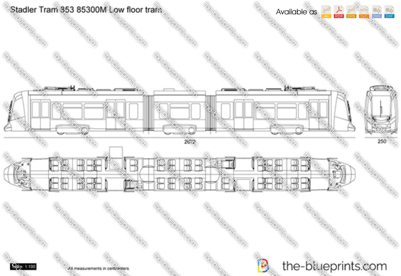 Stadler Tram 853 85300M Low floor tram