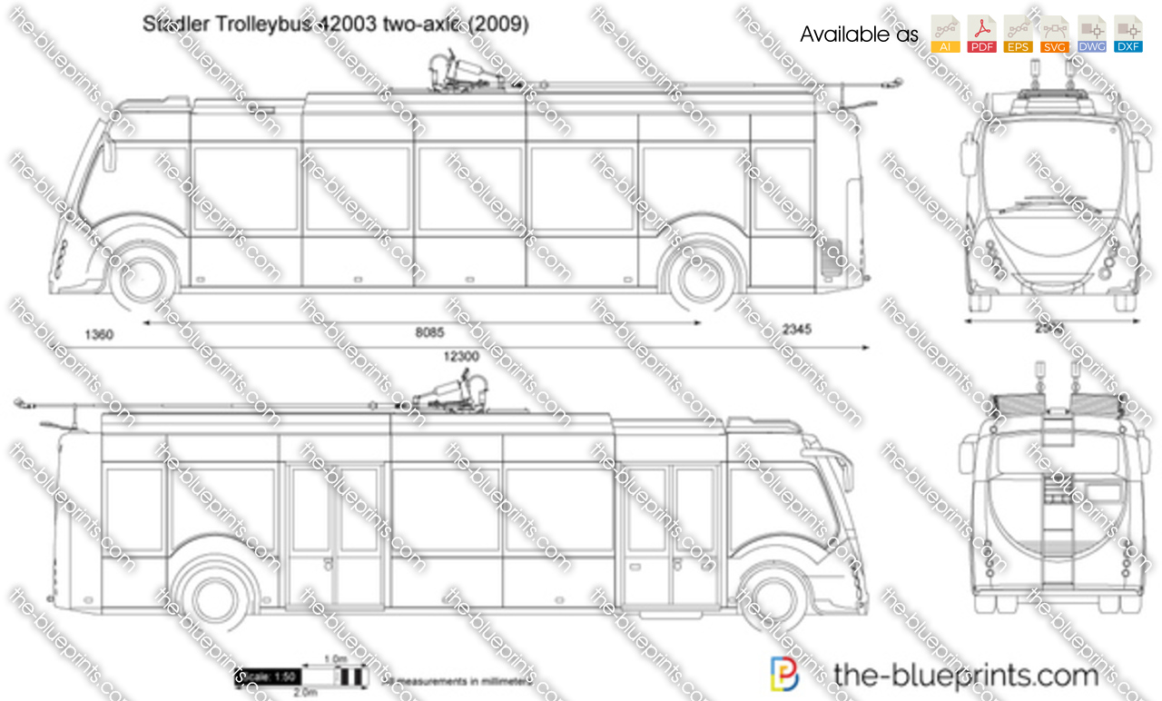 Stadler Trolleybus 42003 two-axle