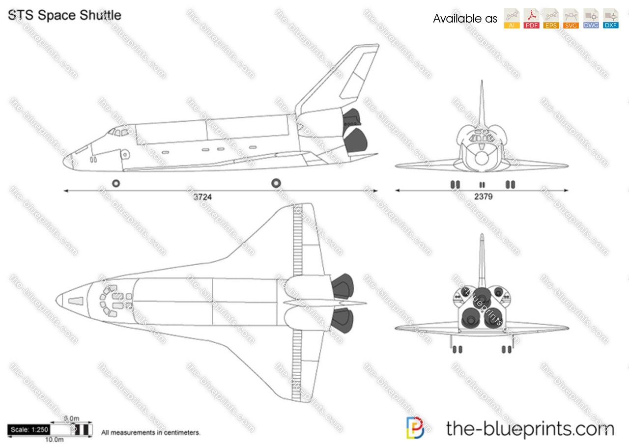 space shuttle blueprints