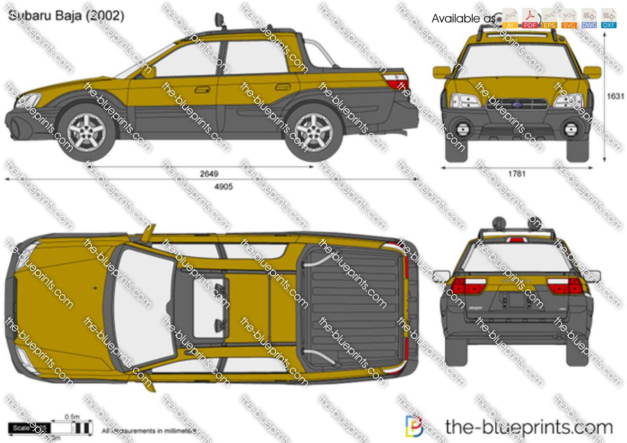 Subaru Baja Vector Drawing