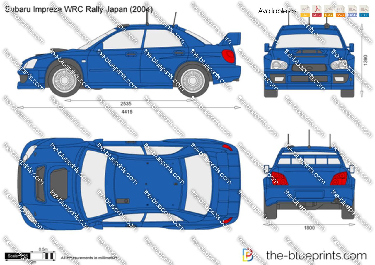 Subaru Impreza WRC Rally Japan