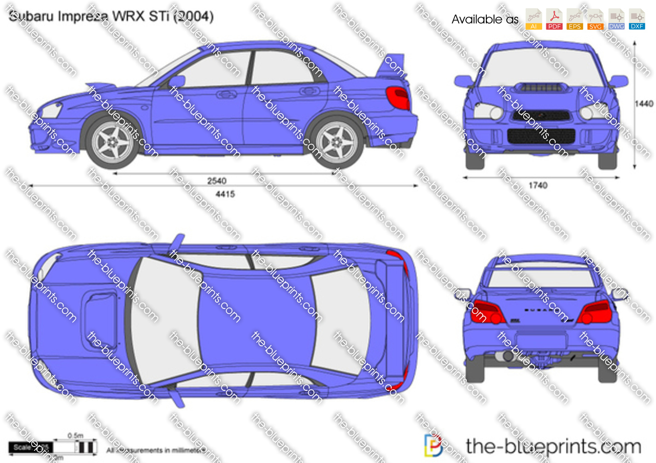 The Blueprints Com Vector Drawing Subaru Impreza Wrx Sti