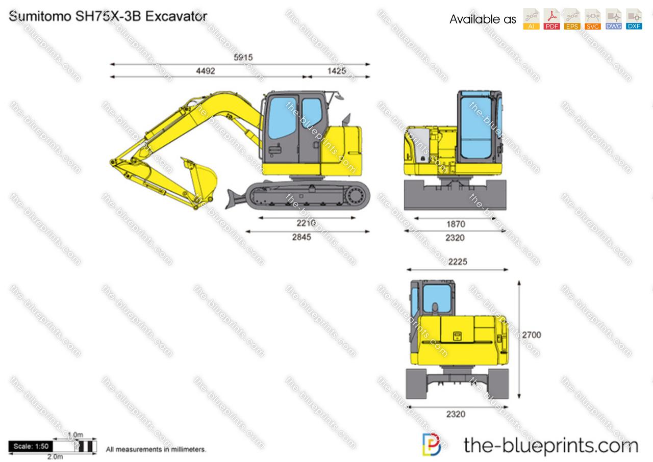 Sumitomo SH75X-3B Excavator