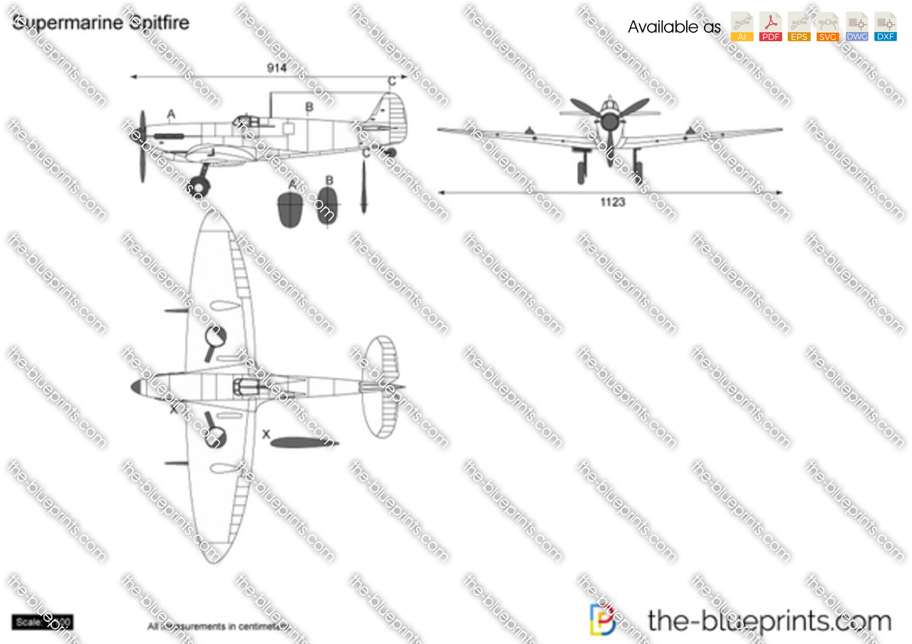Supermarine Spitfire Plans Drawings http://www.the-blueprints.com/vectordrawings/show/2245/%5BVECTORTITLEURL%5D